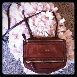 Auth Givenchy mini Pandora vintage leather look😍
